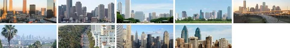 Skylines of Major cities